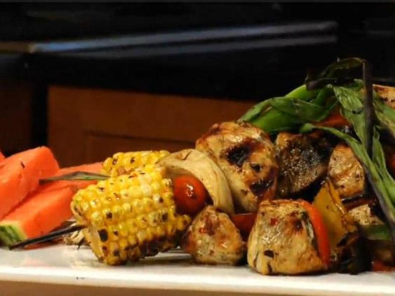 Asian Chicken Kebabs Recipe — Dishmaps