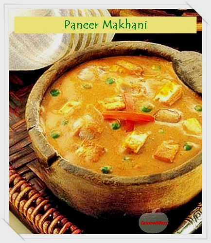Paneer Makhani with Recipe Making Photonotes