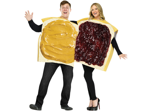 300 Sandwiches Couple Turns Into A Halloween Costume