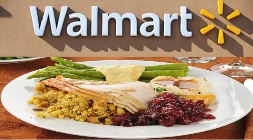 Thanksgiving Dinner Courtesy Walmart