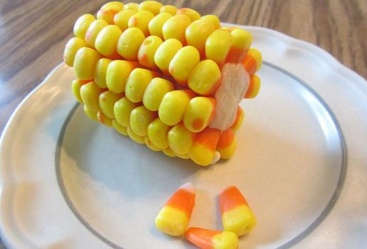 Finally now, A Candy Corn On The Cob