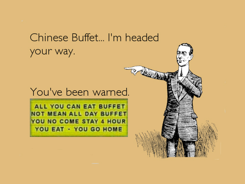 American At A Chinese Buffet