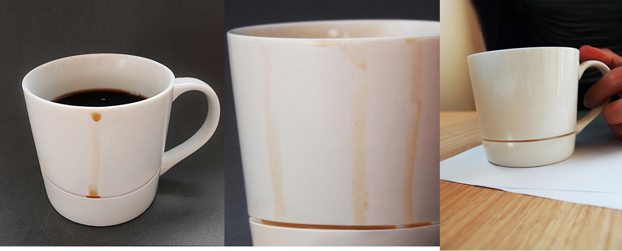 The Cup That Catches Coffee
