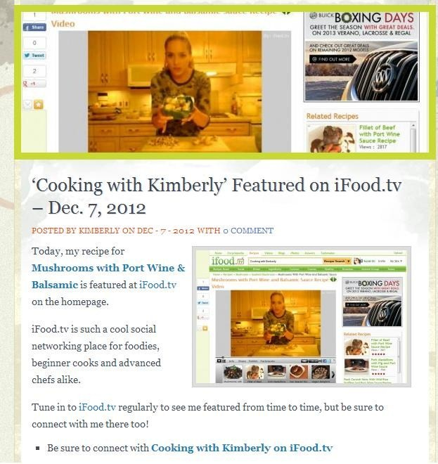 'Cooking with Kimberly': A Personal Experience with iFood.tv