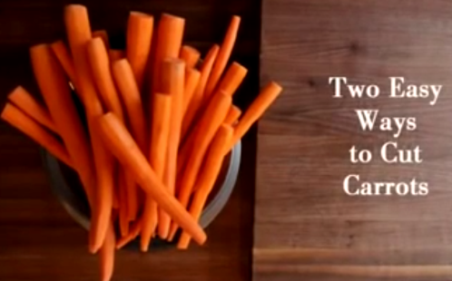How To Cut Carrot Into Same Size Pieces Easily