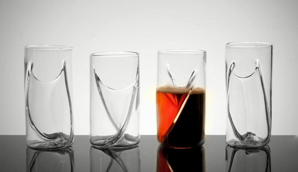 A Unique Two-Chamber Beer Glass