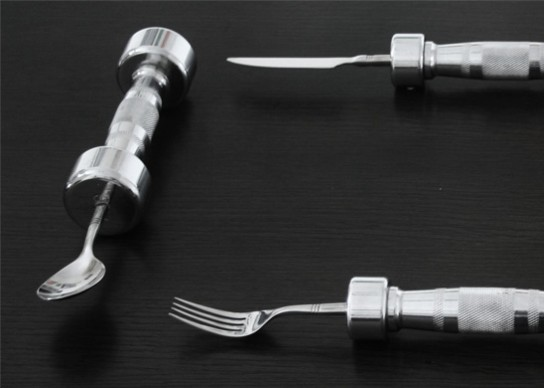 Dream Come True Cutlery: Eat While You Workout!