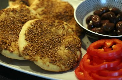 Manaeesh Flatbreads with Zaatar spice