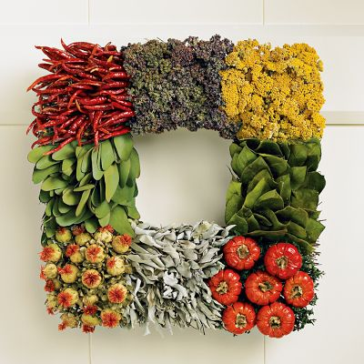 How To Make Vegetable Wreath