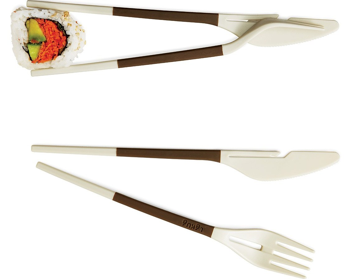 "Eat Easy With ""Fork And Knife Chopsticks"""
