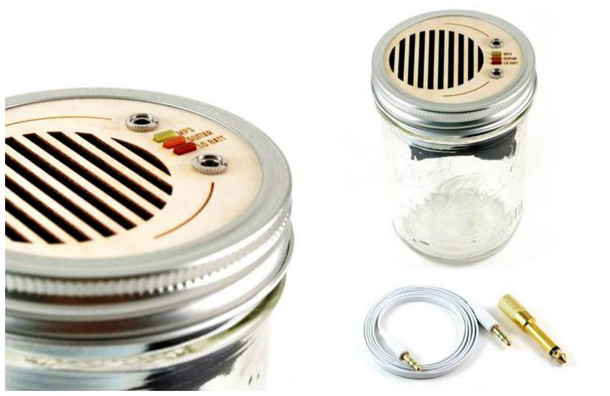 Here's A Mason Jar Speaker For Your Kitchen!