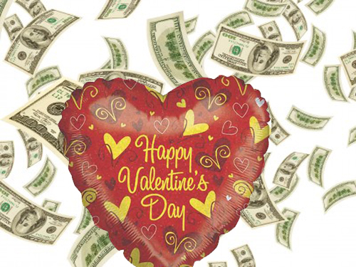 How To Burn Your Money On Valentines Day