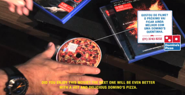 Dominos Brazil Campaign Sells Pizza-On-DVD