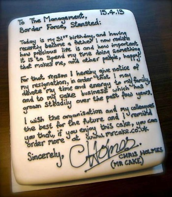 Wannabe Baker Hands In A Sweet Resignation Letter
