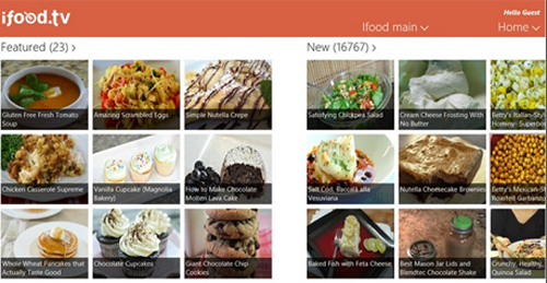 iFood.tv Recipe App On Windows 8 Now!