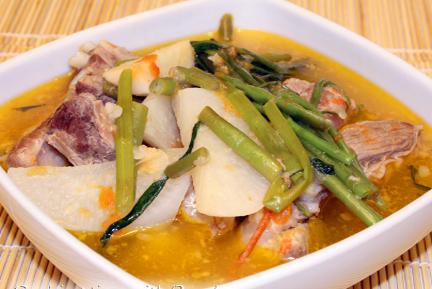 Recipe of pork sinigang