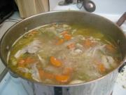 Chicken broth used for steaming