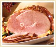 Delicious ham ready to be served