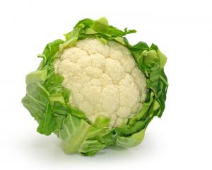 Fresh cauliflower for steaming