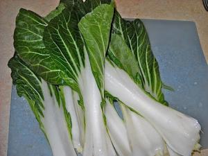 Bok choy which can be steamed